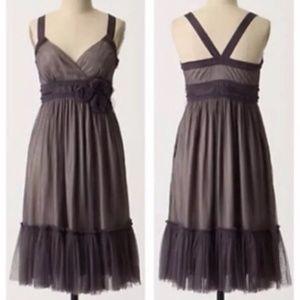 Moulinette Soeurs Anthropologie Dress 8 Gray